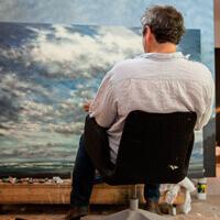 franck Bailleul dans son atelier